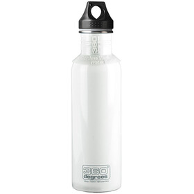 360° degrees Stainless Bidon 750ml, white